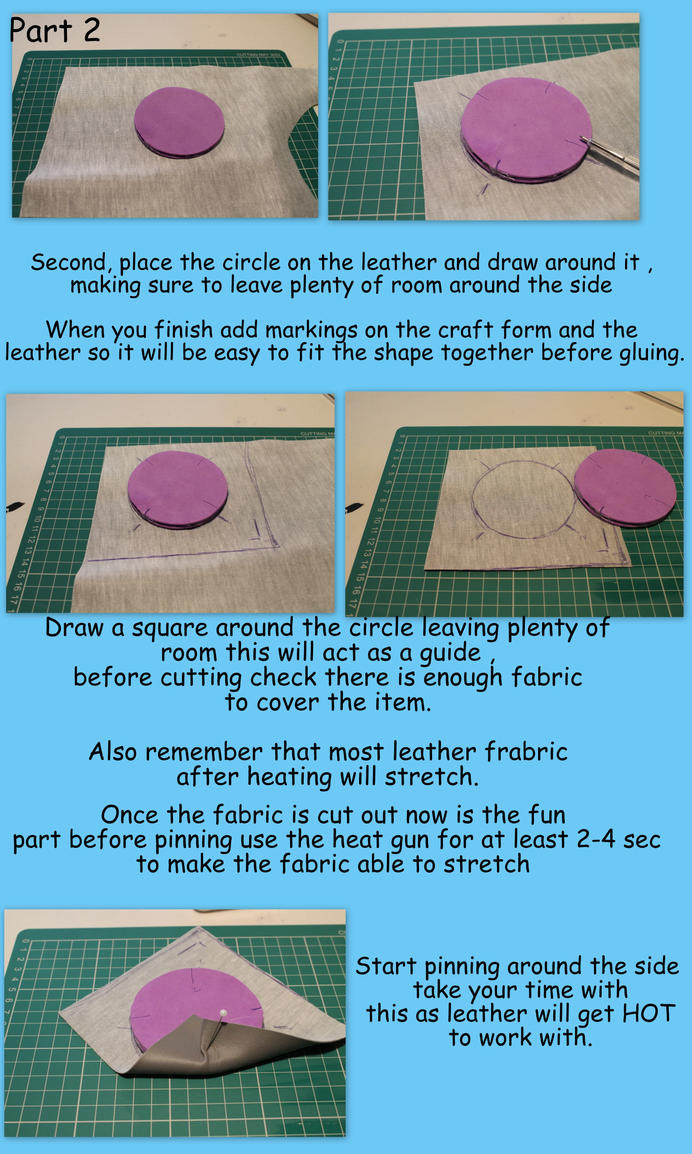 Cosplay tutorial ~ working with leather part 2 by smallfry09