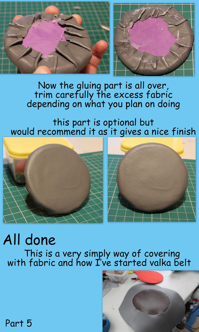 Cosplay tutorial ~ working with leather part 5 by smallfry09