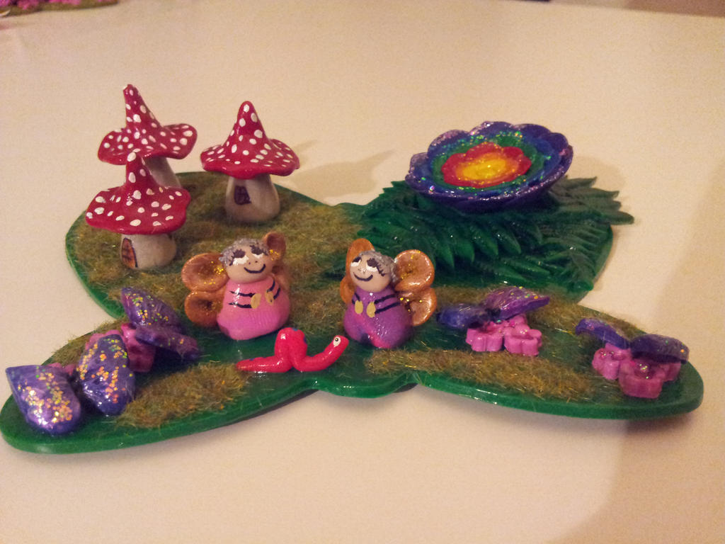 Polymer Clay Christmas Village.Medium Fairy Village Polymer Clay By Shannonsfaeriefolk On