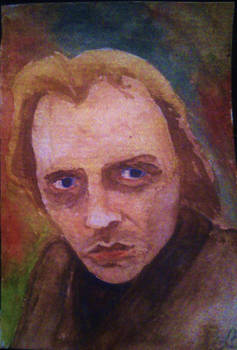 Rik Mayall watercolour