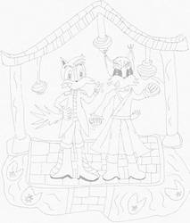 C: Jack and Hanzo lineart by AliceAcorn6003