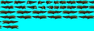 Dunkleosteus Sprite Sheet, Ecco PC