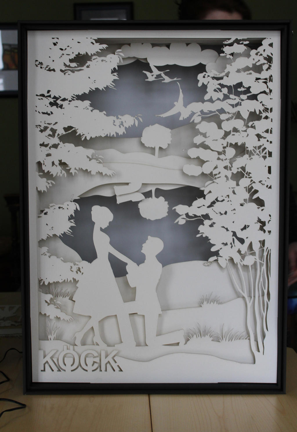 engagement papercut lightbox by clauma on deviantart. Black Bedroom Furniture Sets. Home Design Ideas