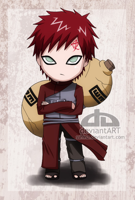 Chibi Gaara by nihase on DeviantArt Gaara And Naruto Chibi