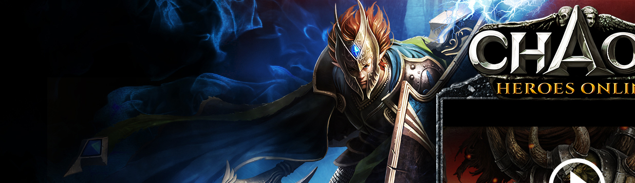 Chaos Heroes Online Landing Page | Good and Evil by Xiox231