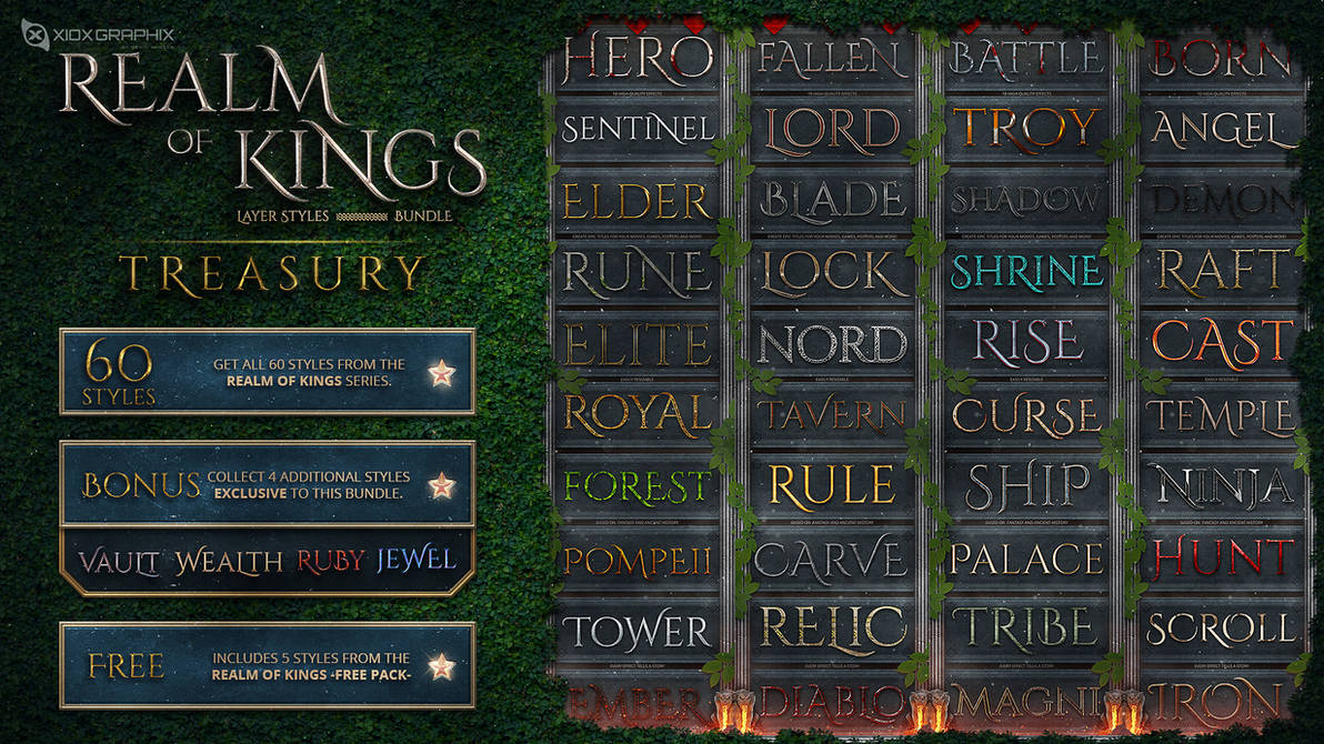 Realm of Kings Layer Styles -BUNDLE-