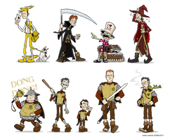 Discworld: characters by rsienicki