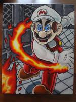 Fire Mario Acrylics 2018 by shaunC