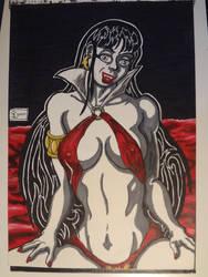 Vampirella A4 sketch by shaunC