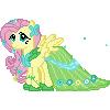 Fluttershy Gala Pixel by JJA79