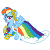 Rainbow Dash Gala Pixel by JJA79