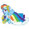 Rainbow Dash Gala Pixel by JJA79