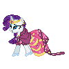 Rarity Gala Pixel by JJA79