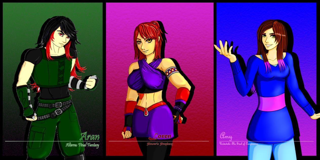 Society OC banner (Aran, Loren, Amy) by DarkPhazonElite