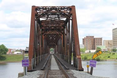 Rail Bridge over the Oauchita River in Louisiana by frozenintime9