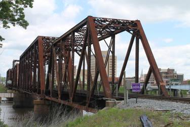 Rail Bridge over the Oauchita rivier in Louisiana  by frozenintime9