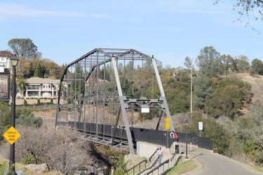 Historic Truss Bridge in Folsom California by frozenintime9