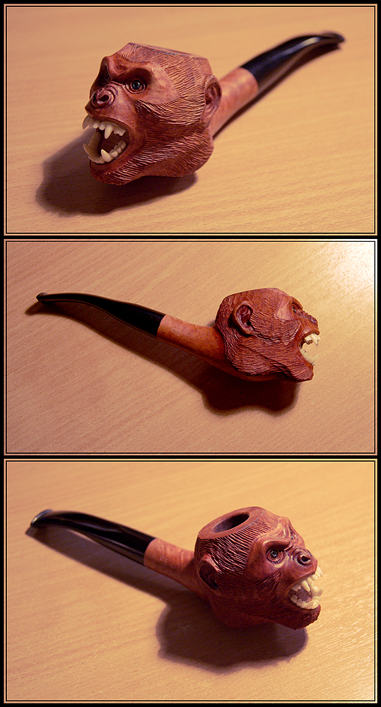 Monkey pipe by Katerinich