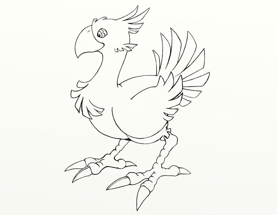 Final fantasy chocobo by crashendburn on deviantart for Final fantasy coloring pages