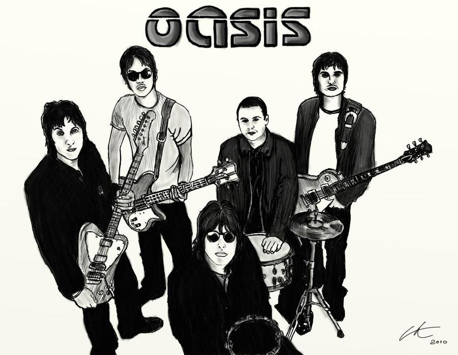 Oasis Band Drawing Oasis Band Logo