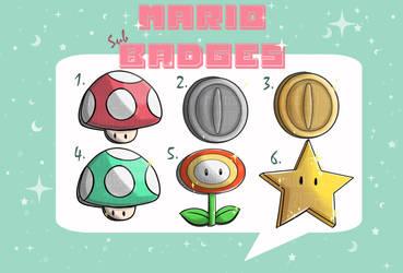 Mario sub badges