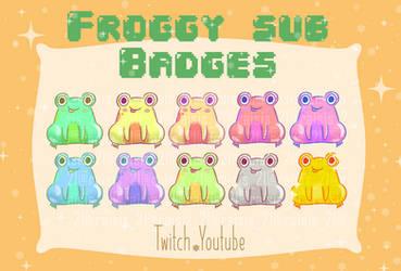 Cute Forggy sub badges