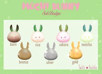Mochi Bunny badges
