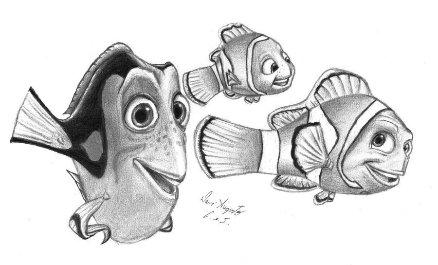 Seahorse Finding Nemo Drawing