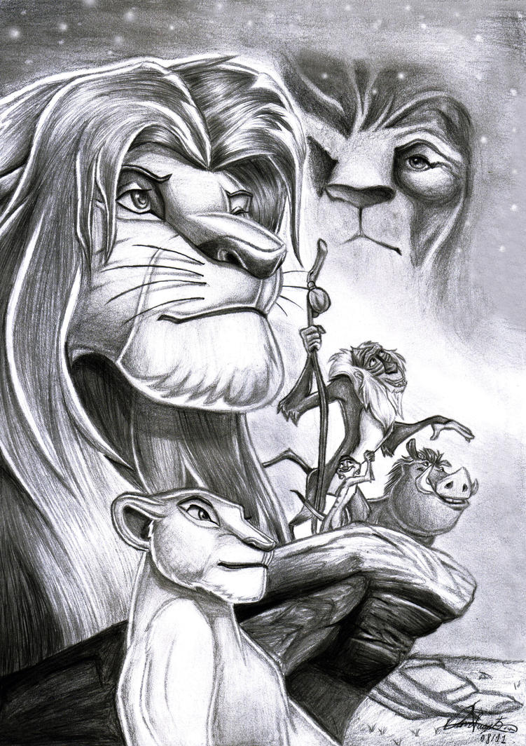 galeria de imagenes hermosas ,curiosas y extrañas  The_lion_king_by_daviskingdom-d478tdz