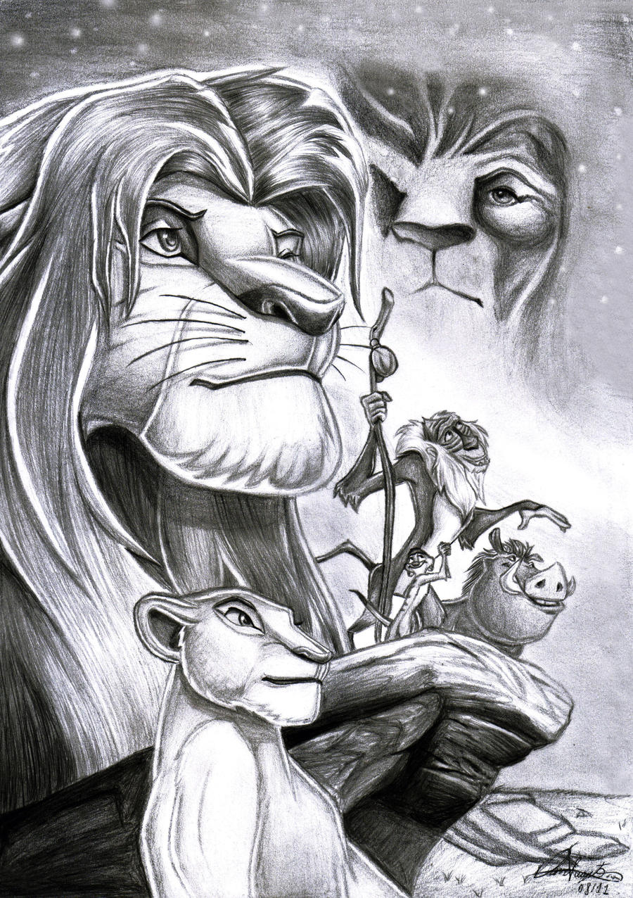 Lion King Drawings In Pencil Images & Pictures - Becuo