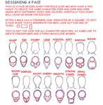 Face design chart