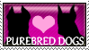 I Love Purebred Dogs - Stamp by sassawj