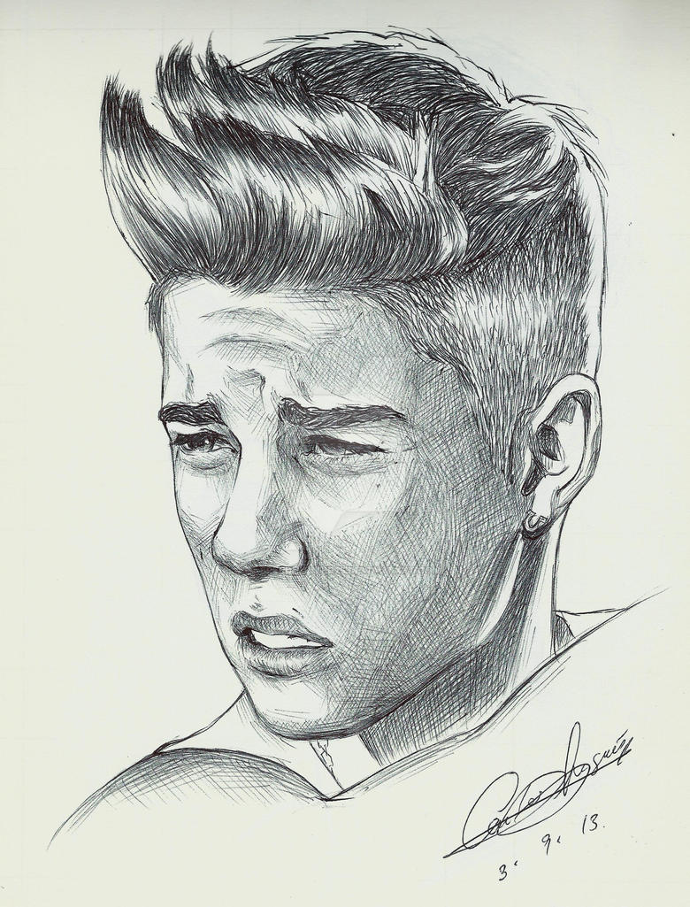how to draw justin bieber name