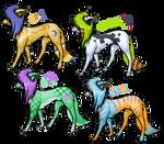 Moar scenedog adoptables by EdibleAdoptables