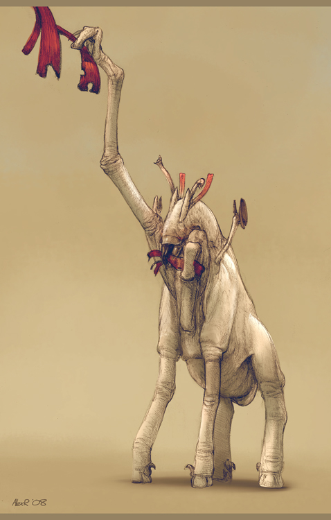 Megaherbivore Sketch by Abiogenisis