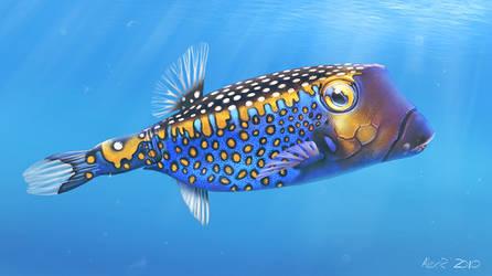 Whitespotted Boxfish by Abiogenisis