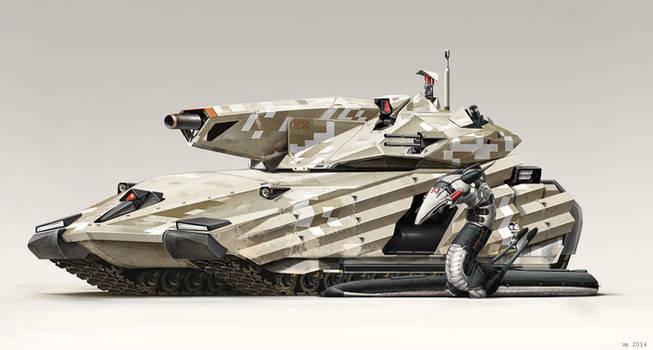 Main Battle Tank by Abiogenisis