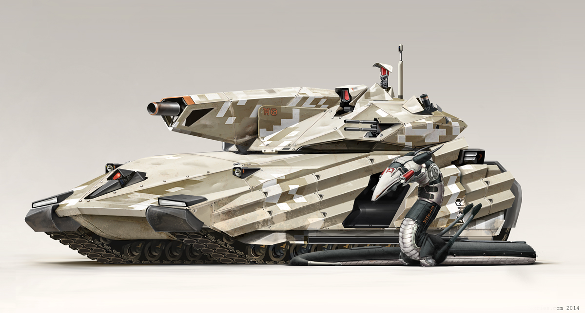 Main Battle Tank by Abiogenisis
