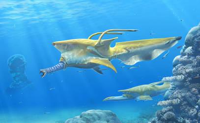 Commission - Tentacle Beak Megafish by Abiogenisis