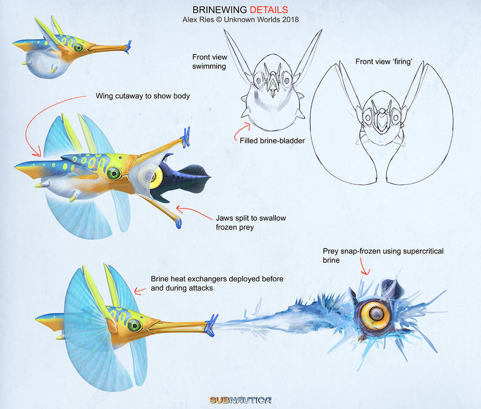 Subnautica: Below Zero - 'Brinewing' Details by Abiogenisis