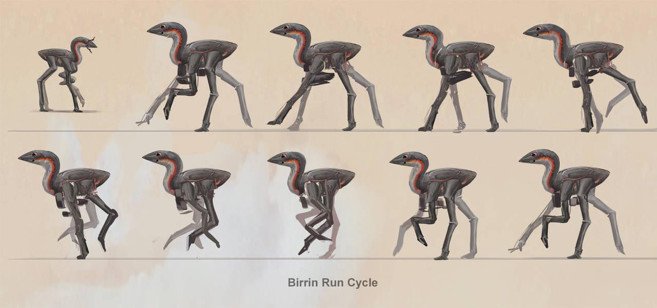 Birrin - Run Cycle by Abiogenisis