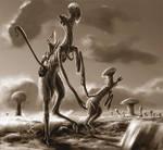Alien Parenthood Sepia