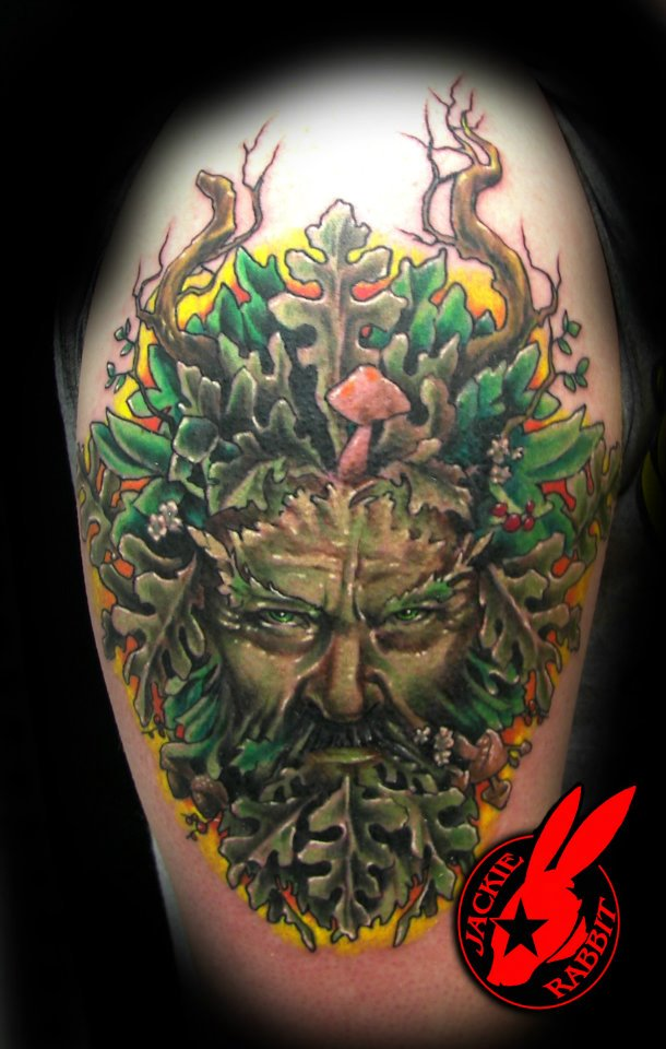 green man tattoo by jackie rabbit by jackierabbit12 on deviantart. Black Bedroom Furniture Sets. Home Design Ideas