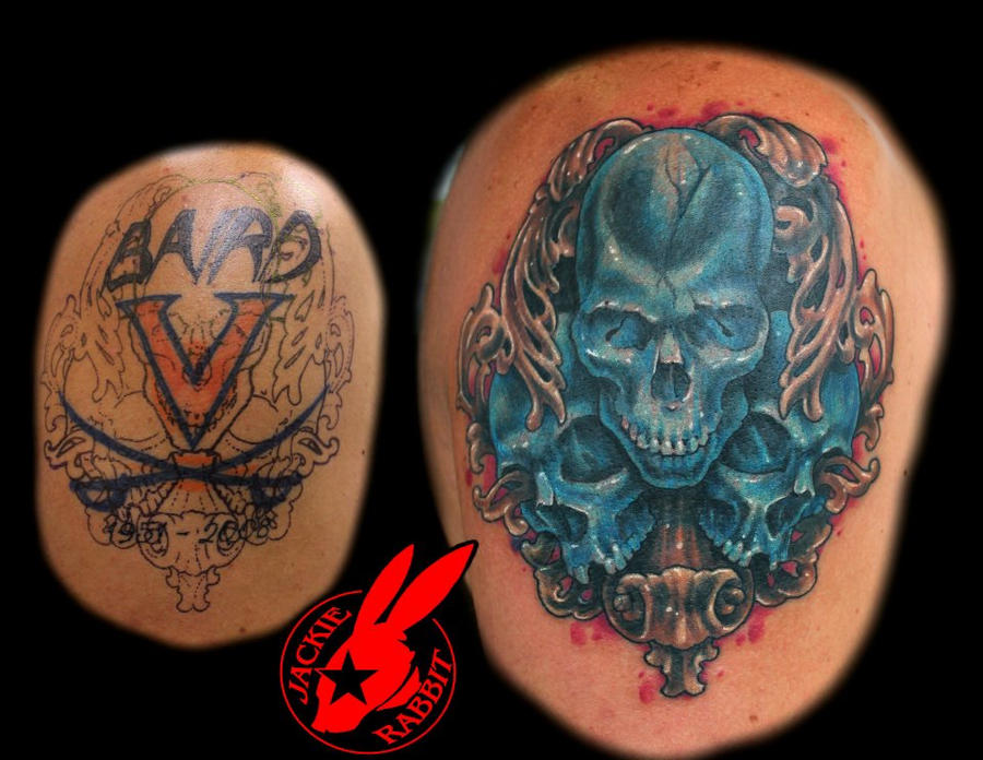 Skull Cover Up Tattoo Designs