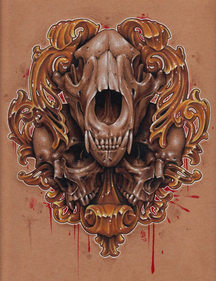 101x10 colored pencil skulls by Jackie Rabbit by jackierabbit12 on