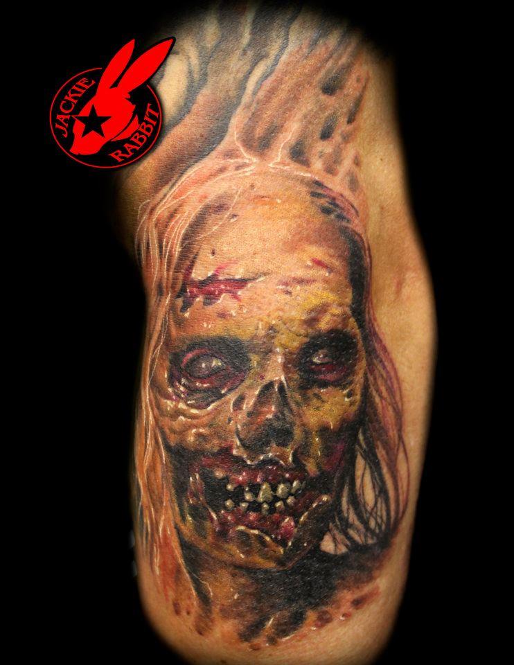 Zombie Tattoo by Jackie Rabbit
