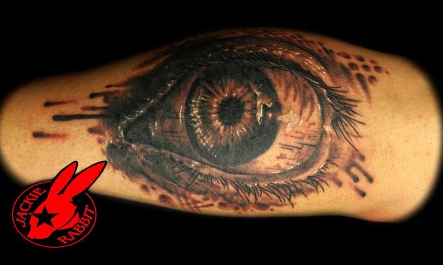 Realistic Evil Eye Tattoo
