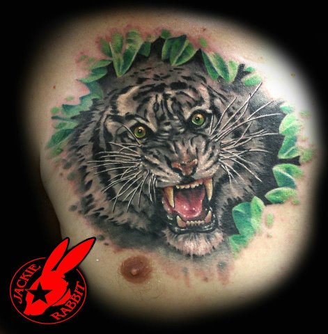 White tiger tattoo by jackie rabbit by jackierabbit12 on for White tiger tattoo