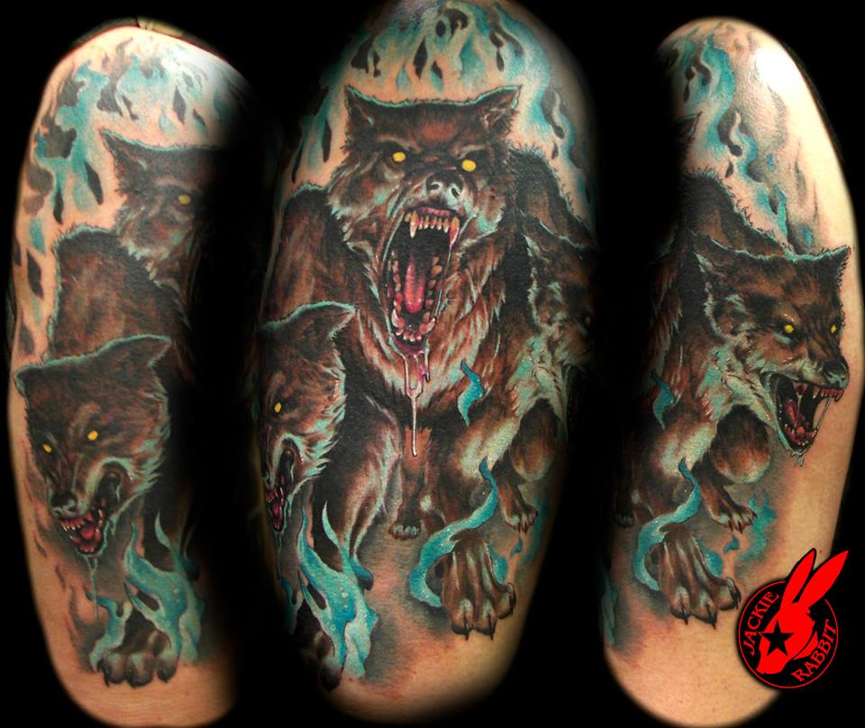 top cerberus tattoo in images for pinterest tattoos. Black Bedroom Furniture Sets. Home Design Ideas