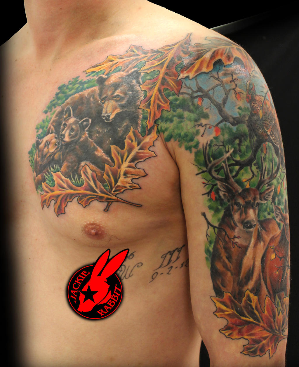 outdoor wildlife hunting tattoo by jackie rabbit by